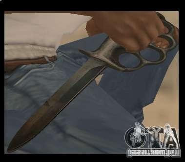 Faca soqueira cromo-livre para GTA San Andreas