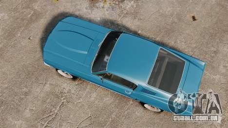 Ford Mustang Customs 1967 para GTA 4 vista direita