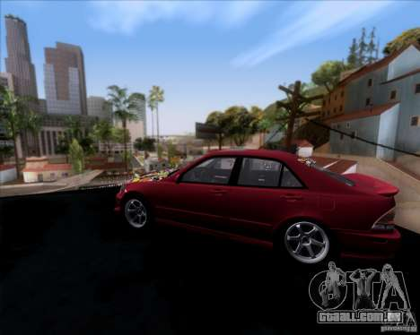 Lexus IS300 Hella Flush para GTA San Andreas esquerda vista