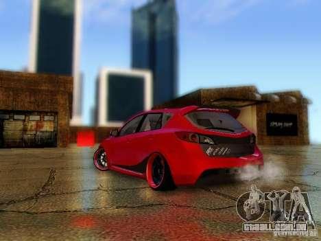 Mazda Speed 3 2010 para GTA San Andreas esquerda vista