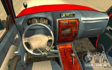 Toyota Land Cruiser Prado para GTA San Andreas vista traseira