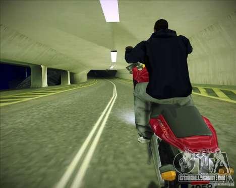 Honda CBR600RR 2005 para GTA San Andreas traseira esquerda vista