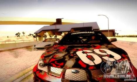 Drag Track Final para GTA San Andreas por diante tela