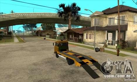 Caminhão de reboque Avia A31 para GTA San Andreas traseira esquerda vista