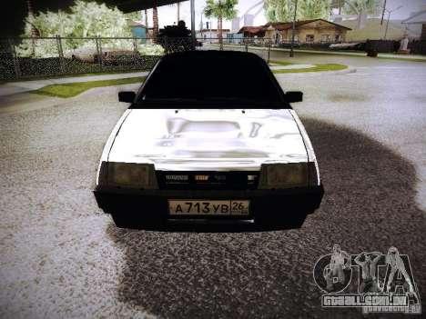 VAZ 2108 Chrome para GTA San Andreas vista traseira