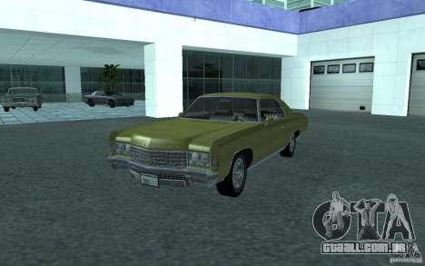 Chevrolet Impala 1971 para GTA San Andreas traseira esquerda vista