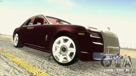 Rolls-Royce Ghost 2010 V1.0 para GTA San Andreas vista inferior