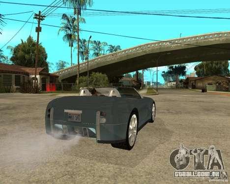 Ford Cobra Concept para GTA San Andreas traseira esquerda vista