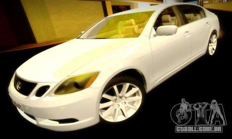 Lexus GS430 para GTA San Andreas vista superior