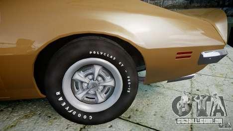 Pontiac Firebird 1970 para GTA 4 vista direita