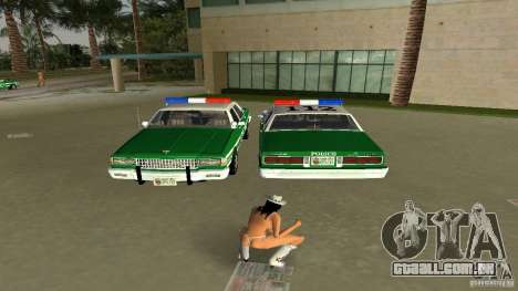 Ford LTD Crown Victoria 1985 Interceptor LAPD para GTA Vice City vista traseira esquerda