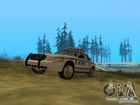 Ford Crown Victoria NYPD Police para GTA San Andreas esquerda vista
