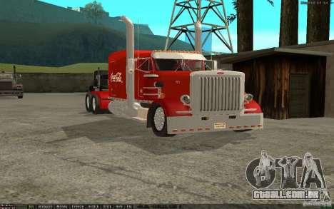 Peterbilt 379 Custom Coca Cola para GTA San Andreas esquerda vista