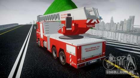 Scania Fire Ladder v1.1 Emerglights blue [ELS] para GTA 4 traseira esquerda vista