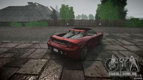 Porsche Carrera GT para GTA 4 traseira esquerda vista
