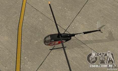 Robinson R44 Raven II NC 1.0 pele 2 para GTA San Andreas vista traseira
