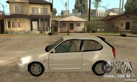 Toyota Corolla G6 Compact E110 JP para GTA San Andreas esquerda vista