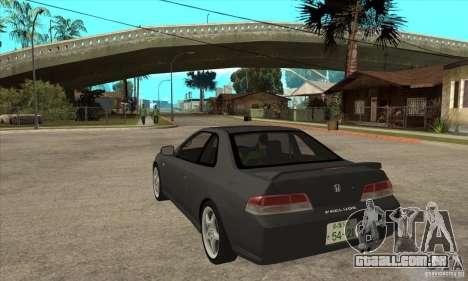 Honda Prelude SiR para GTA San Andreas traseira esquerda vista