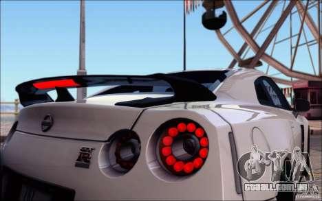 Nissan GTR 2011 Egoist (versão com sujeira) para as rodas de GTA San Andreas