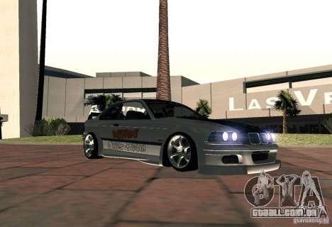 BMW M3 MyGame Drift Team para GTA San Andreas traseira esquerda vista
