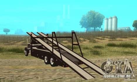 Kenworth Car Hauler para GTA San Andreas traseira esquerda vista