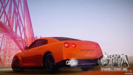 Nissan GTR R35 Tunable v2 para GTA San Andreas esquerda vista
