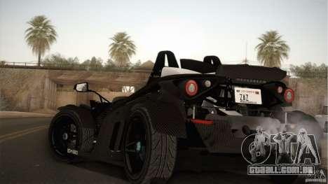 KTM-X-Bow para GTA San Andreas traseira esquerda vista