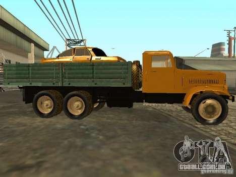 Mesa de caminhão KrAZ v. 2 para GTA San Andreas vista interior