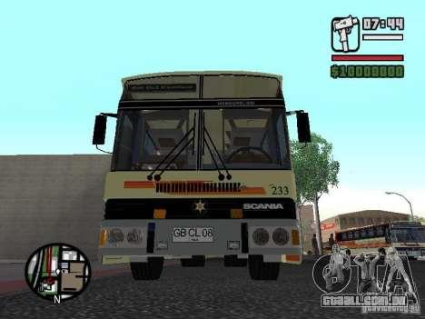 MARCOPOLO III SCANIA 112 para GTA San Andreas traseira esquerda vista