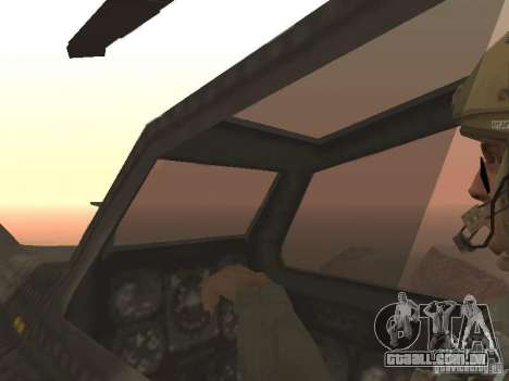 MI 28 Havok para GTA San Andreas vista inferior