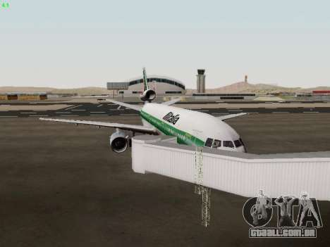 McDonell Douglas DC-10-30 Alitalia para GTA San Andreas vista interior