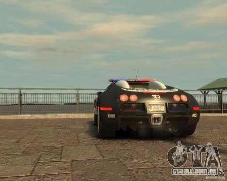 Bugatti Veyron Police [EPM] para GTA 4 vista de volta