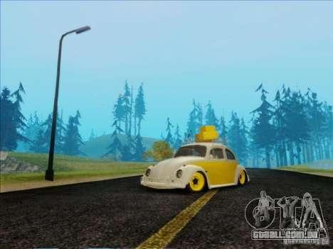 Volkswagen Beetle Edit para GTA San Andreas vista traseira