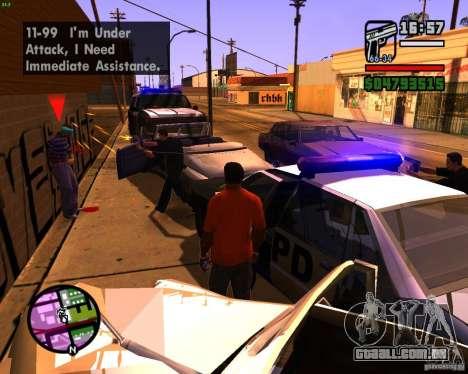 Perseguindo máquinas para GTA San Andreas por diante tela