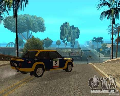Fiat 131 Rally para GTA San Andreas vista direita