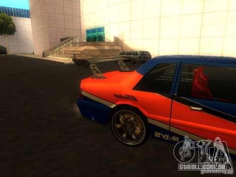 Previon FNF3 para GTA San Andreas traseira esquerda vista