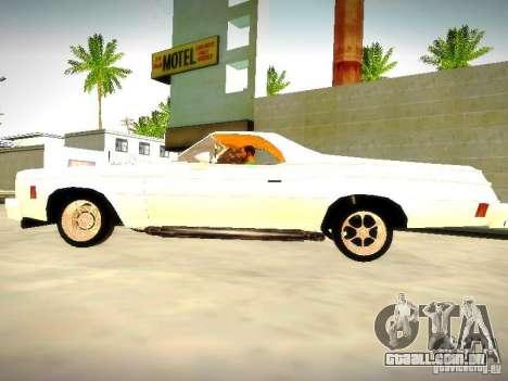 Chevrolet El Camino 1976 para GTA San Andreas esquerda vista