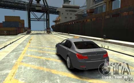 BMW ActiveHybrid 7 2010 para GTA 4 traseira esquerda vista