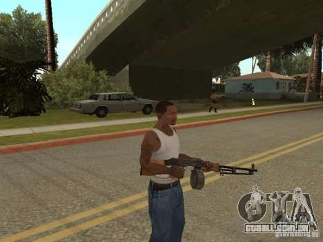 Light Machine Gun Dâgterëva para GTA San Andreas terceira tela