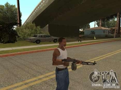 Light Machine Gun Dâgterëva para GTA San Andreas terceira tela