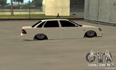 Lada Priora Low para GTA San Andreas vista direita