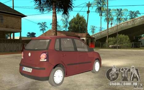 Volkswagen Polo 2006 para GTA San Andreas vista direita