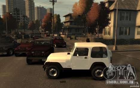 Jeep Wrangler 1986 para GTA 4 esquerda vista