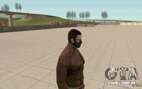 Máscara de perseguidor para GTA San Andreas segunda tela