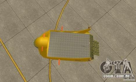 Plataforma aérea transportadora para GTA San Andreas vista traseira