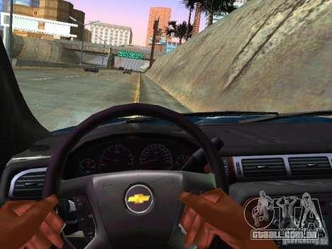 Chevrolet Tahoe 2008 Police Federal para GTA San Andreas vista interior