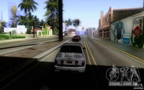 Bentley Arnage para GTA San Andreas vista traseira