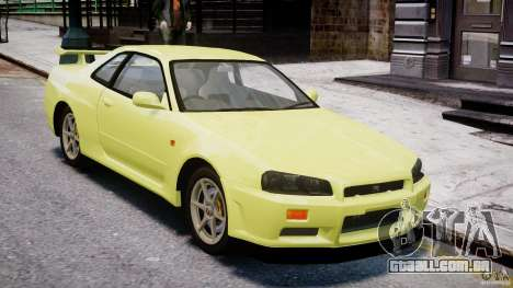 Nissan Skyline R-34 V-spec para GTA 4 vista superior