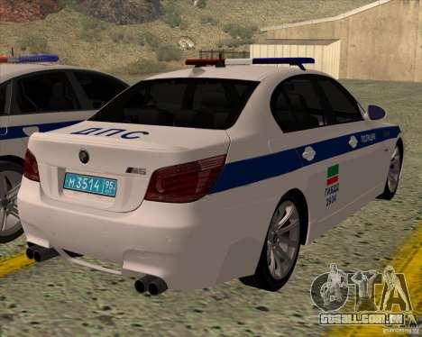 BMW M5 E60 DPS para GTA San Andreas esquerda vista