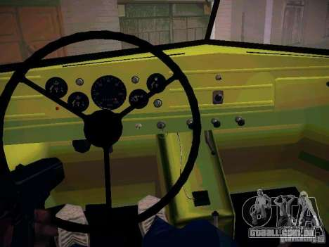 GAZ 51 Assinizator para GTA San Andreas vista interior